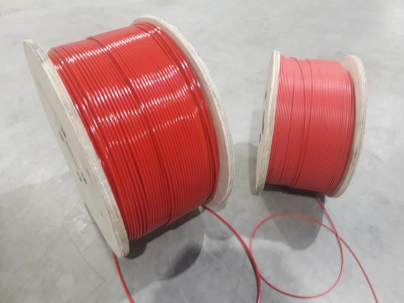 PVC omspoten kabel ROOD - signaal en veiligheidslijn