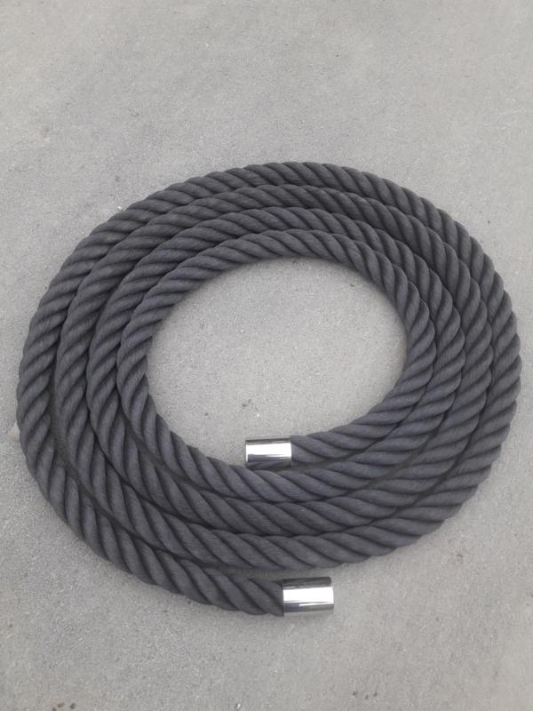 Kabelaring touw 48 mm zwart