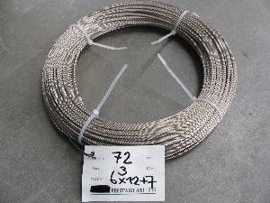 verzinkte staalkabel met touw kern