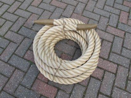 Uitpunten van 48 mm touw