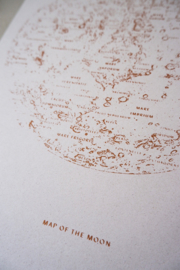 Print : Map of the MOON