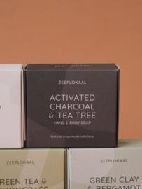 Zwarte actieve kool en Tea tree 130 gram