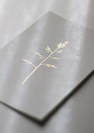 Wenskaart Gras met goudfolie