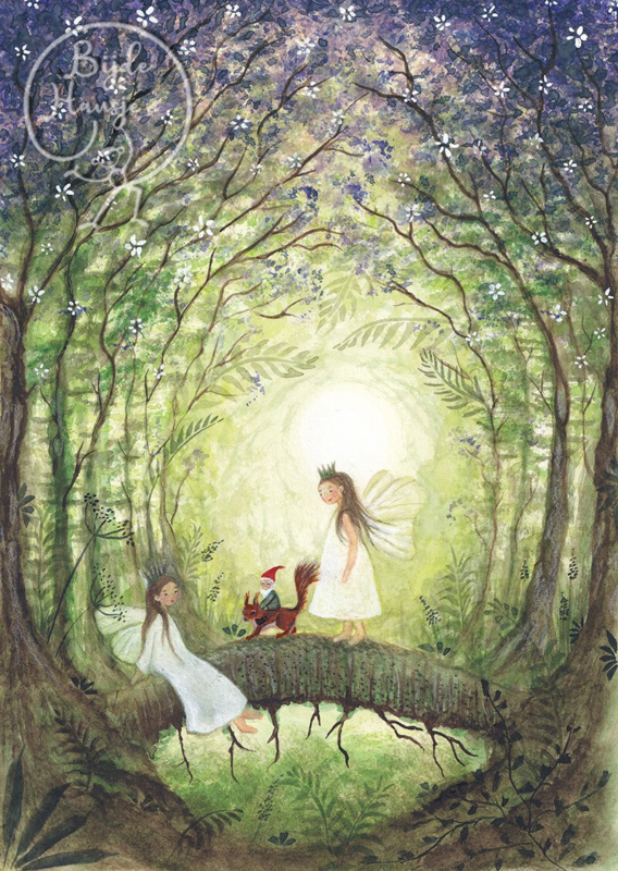 Fairies with squirrel