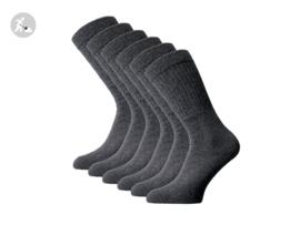 6 paar SQOTTON Werksokken - Heavy - Antraciet