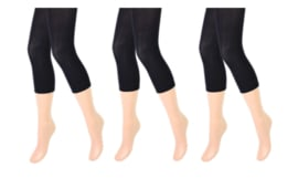 3 stuks Dames panty/legging - capri - 80 denier - zwart