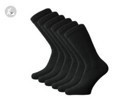 6 paar SQOTTON Werksokken - Heavy - Zwart