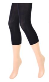 Dames panty/legging - capri - 100 denier - zwart