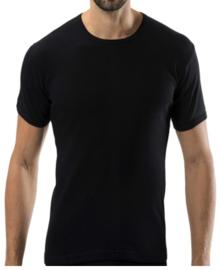 Bonanza Basic T-shirt - O-neck - 100% katoen - Zwart