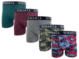 Bonanza boxershorts - 5 Pack - Katoen - Casual/Army