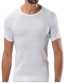 Bonanza Basic T-shirt - O-neck - 100% katoen - Wit