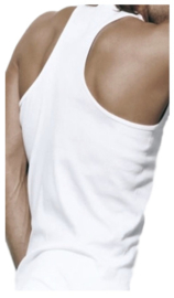 Bonanza halterhemd - 100% katoen - wit