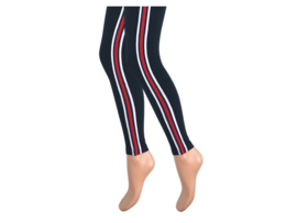 Dames legging - Katoen - Streep - Zwart