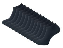 12 paar Sneakersokken - VANSENZO - Basic - Zwart