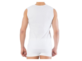5 stuks Bonanza A-shirt - ronde hals - mouwloos - wit