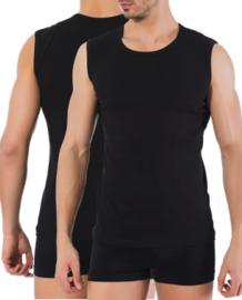 Bonanza A-shirt - ronde hals - mouwloos - zwart