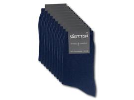 10 paar Damessokken - SQOTTON - 100% Katoen - Naadloos - Marineblauw