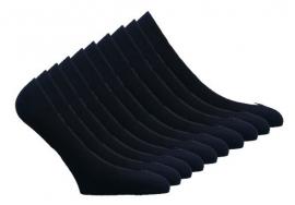 10 paar Dames kousenvoetjes - naadloos - zwart
