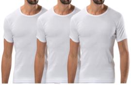 3 stuks Bonanza Basic T-shirt - O-neck - 100% katoen - Wit