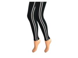 Dames legging - Katoen - Gestreept - Zwart-Wit