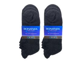 6 paar Bonanza badstof sneakersokken met lipje - grijs