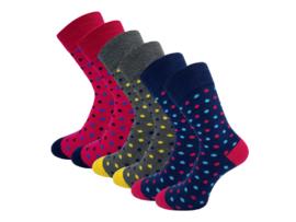 6 paar Sokken - Bonanza - Little Dots - Naadloos