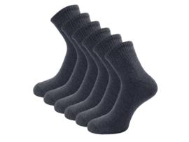 6 paar Badstof Quarter Sneakersokken - SQOTTON - Grijs