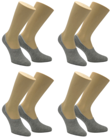 4 paar Born - Sneakersokken - Footies - Naadloos - Lichtgrijs - 41-44