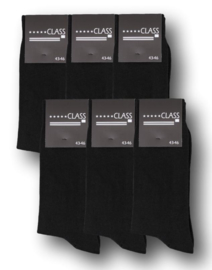 6 paar Bonanza herensokken - First-Class - Naadloos - zwart