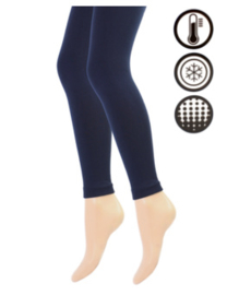 Thermo legging - marineblauw
