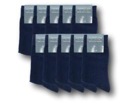 10 paar Basic Kindersokken - Naadloos - Marine
