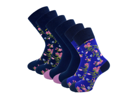 6 paar Sokken - Bonanza - Flowers - Naadloos