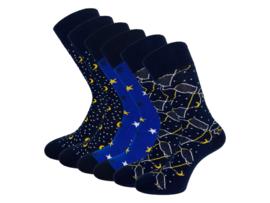 6 paar SQOTTON - Naadloze sokken - Galaxy