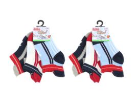 6 paar Jongens Baby sneakersokken met lipje