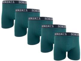 Bonanza boxershorts - 5 Pack - Katoen - Donkergroen