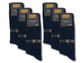 6 paar Outdoor - Herensokken - Rib - Naadloos - Gold Label - Zwart