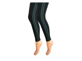 Dames legging - Katoen - Gestreept - Zwart-Groen
