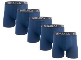 Bonanza boxershorts - 5 Pack - Katoen - Marineblauw