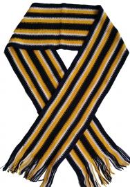 Sjaal blauw geel streep