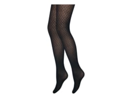 Panty - Harlequin Ruit - Zwart