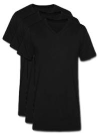 3 stuks Bonanza V-hals T-shirt - Zwart