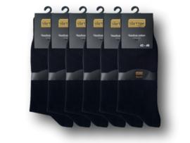 6 paar SQOTTON Herensokken - Gold Label - Naadloos - Zwart