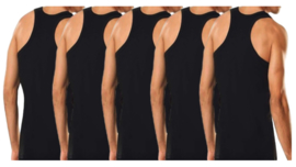 5 stuks Bonanza halterhemd - 100% katoen - zwart