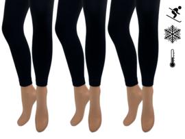 3 stuks - SQOTTON - Thermo legging - Zwart