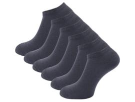 6 paar Badstof sneakersokken - SQOTTON - Antraciet