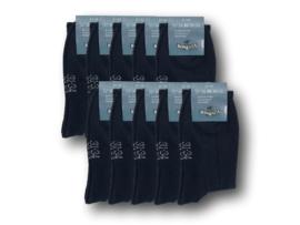 10 paar Basic Kindersokken - Naadloos - Zwart
