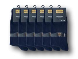 6 paar SQOTTON Herensokken - Gold Label - Naadloos - Marineblauw