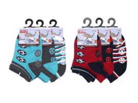 6 paar Jongens Baby sneakersokken - Anti-slip - Voetbal