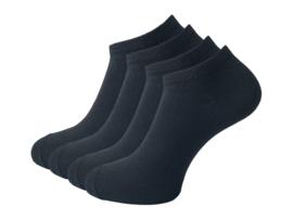 4 paar Sneakersokken - VANSENZO - Basic - Zwart