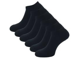 6 paar Badstof sneakersokken - SQOTTON - Zwart